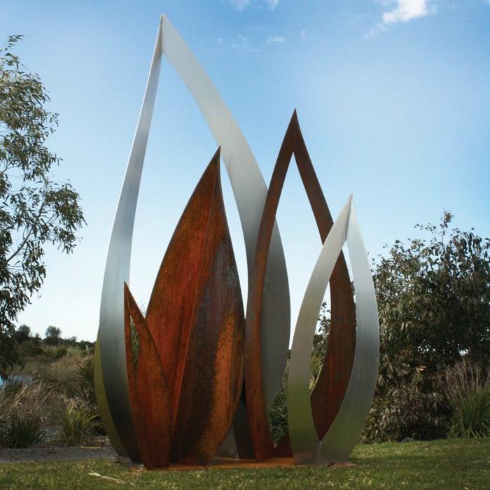 phosphore-cuivre-chrome-nickel--molybdène-ajoutés- A242-sculpture-art-contemporaine