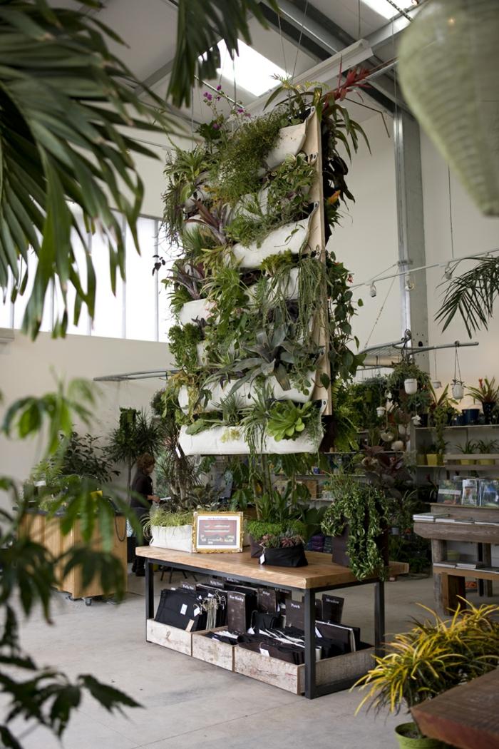 plantes-vertes-d-intérieur-déco-salon-bien-aménagé-belle-idée-pot-hors-sol