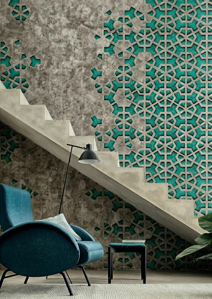 pour-bien-choisir-un-pepier-peint-lutece-geometrique-pour-le-couloir-dans-la-maison