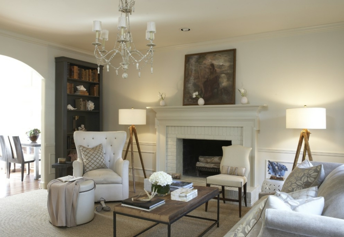 Le tapis jonc de mer pour le salon classique en 60 belles id es - Tapis salon original ...