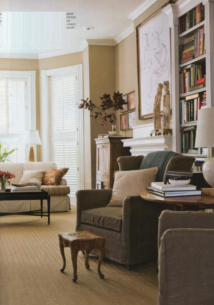 pour-votre-salon-un-tapis-beige-style-jonc-de-mer-original-idée-cool-rétro