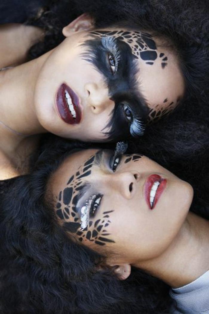 Le masque dhuile pour les cheveux sur les cheveux peints