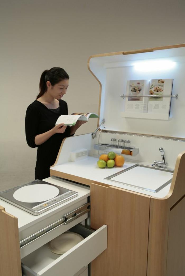 Petit espace revisite astuces gain place accueil design for Meuble gain de place cuisine