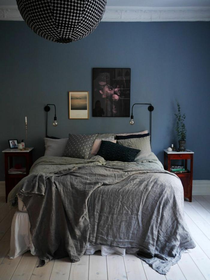 quelle-peinture-pour-la-chambre-à-coucher-peinture-lavable-bleu-foncé