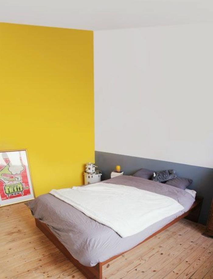 quelle-peinture-satiné-choisir-pour-la-chambre-a-coucher-doublecouleur-jaune-et-blanc