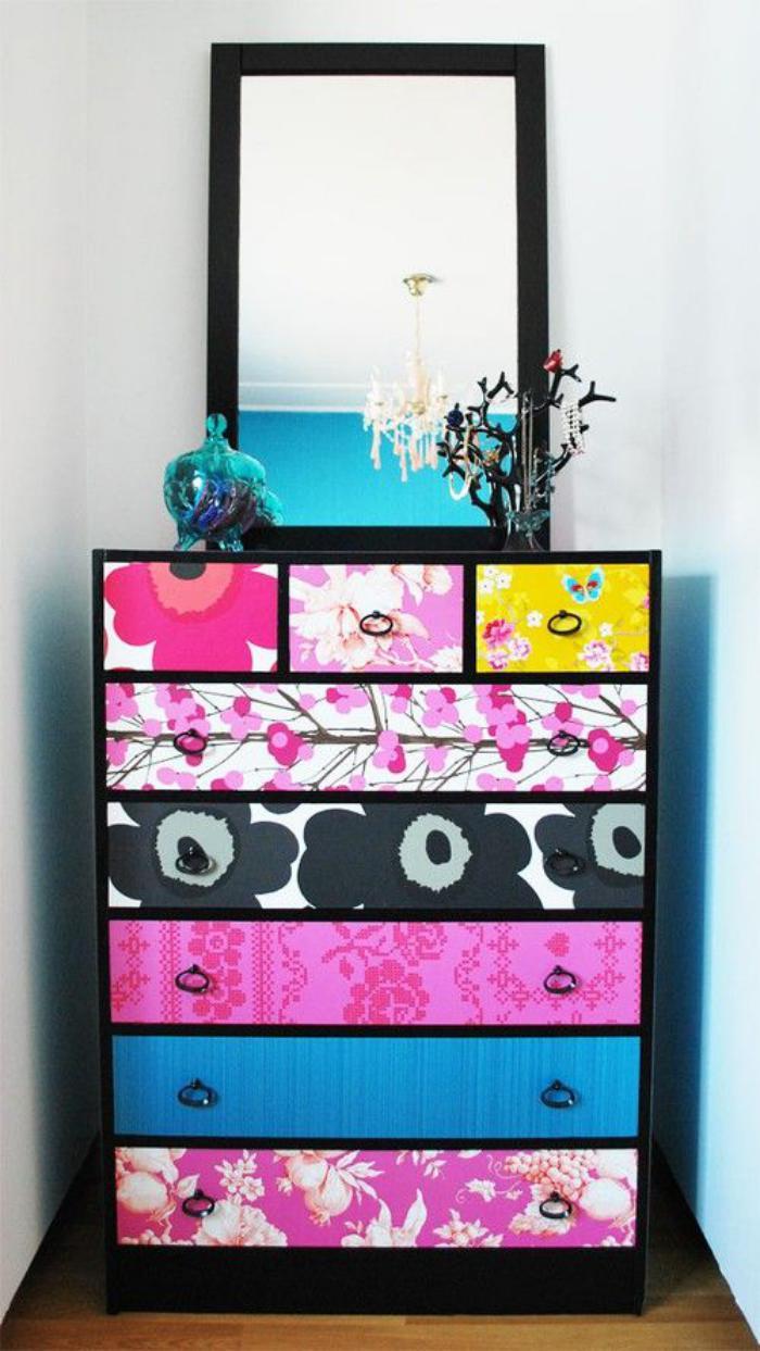 relooker-des-meubles-commode-pop-art-relookée