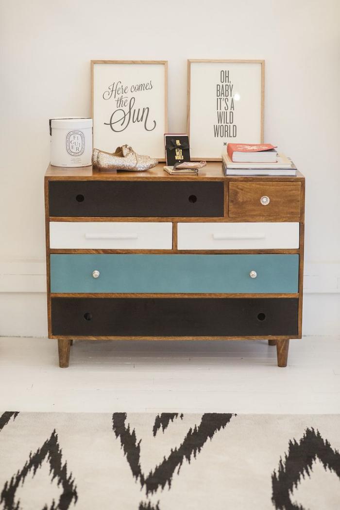 relooker-des-meubles-peindre-les-tiroirs-d'une-commode