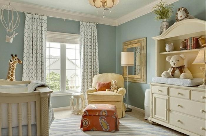 Id es en 50 photos pour choisir les rideaux enfants - Quelle couleur avec le bleu ...