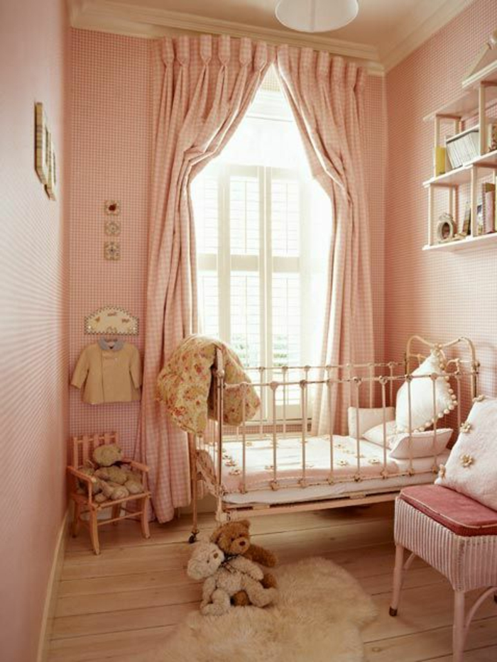 Rideau chambre fille tunisie for Rideau rose chambre fille