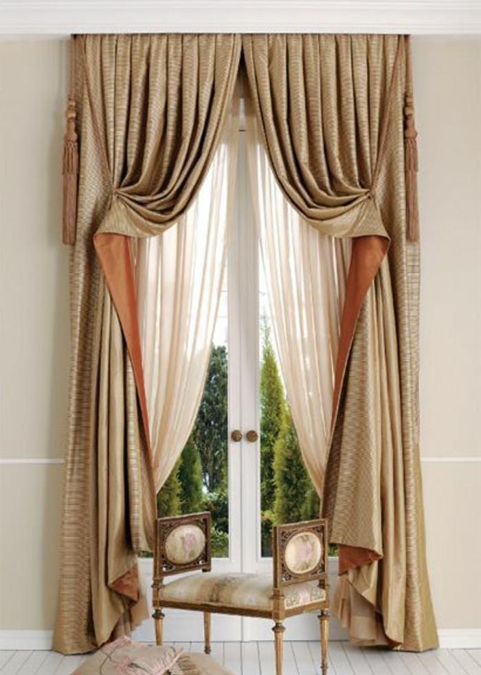 Le rideau voilage dans 41 photos for Deco rideaux pour salon