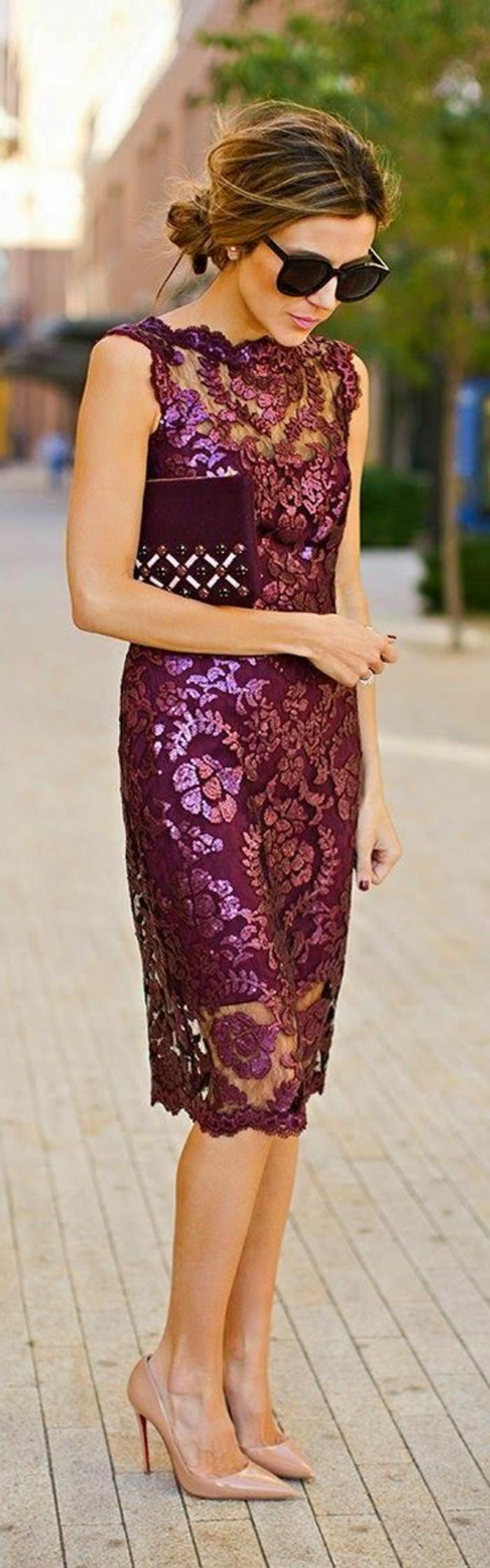 robe-cocktail-court-pas-cher-violet-portée-par-victoria-beckham-mode-tendances