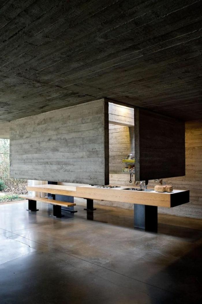 salle-de-bain-avec-leroy-merlin-beton-ciré-gris-foncé-intérieur-zen-pour-la-salle-de-bain