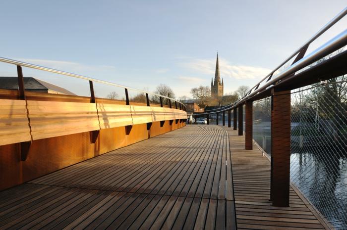 sculpture-acier-corten-matériaux-bruts-construction-pont -pont-au-coushe-de-soleil