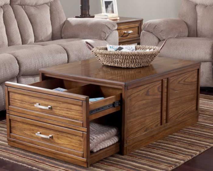 La table basse avec tiroir un meuble pratique et d co for Table de salon originale