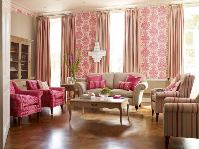 table-basse-avec-tiroir-salon-coquet-en-rose-et-blanc