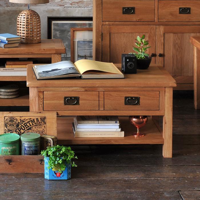La table basse avec tiroir un meuble pratique et déco Archzine fr # Table Basse En Bois Avec Tiroir