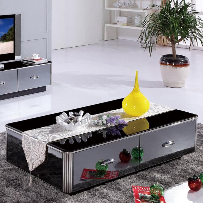 table-basse-avec-tiroir-table-noire-reflétante
