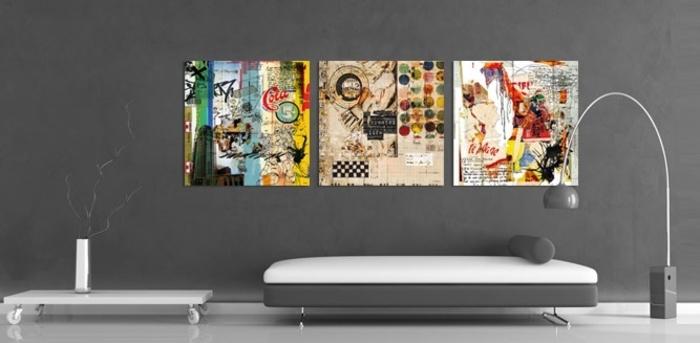 tableau-3-panneaux-peinture-pour-le-salon-deco-murale-canapé-confortable-lit