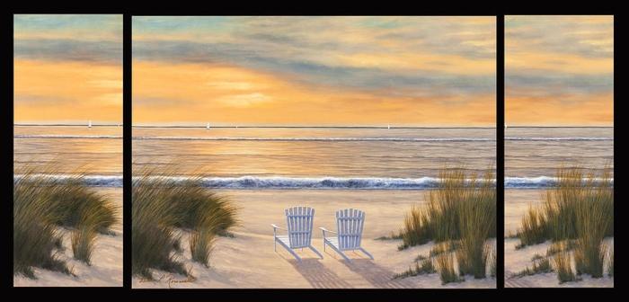 tableau-3-panneaux-peinture-pour-le-salon-deco-murale-la-mer
