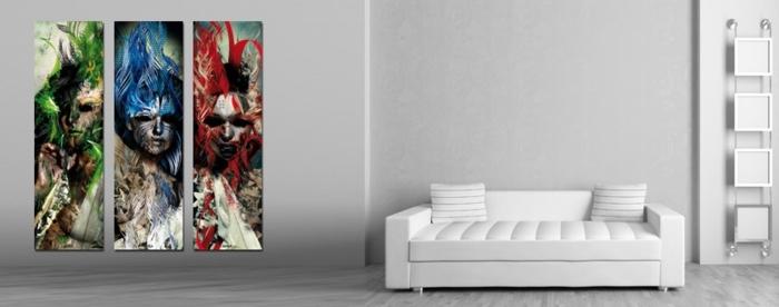 tableau-composé-d'un-triple-panneau-peinture-triptyque-contemporaine