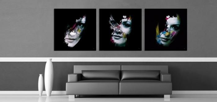 tableau-composé-d'un-triple-panneau-peinture-triptyque-noir-et-blanc