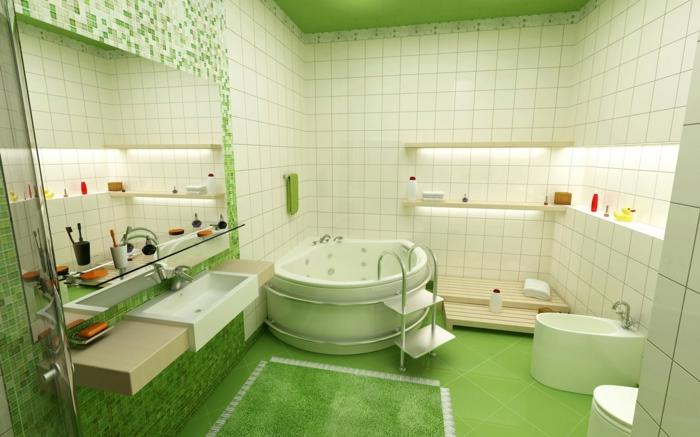 tapis-de-salle-de-bain-vert-pour-votre-salle-de-bain-verte-avec-carrelage-vert-et-blanc