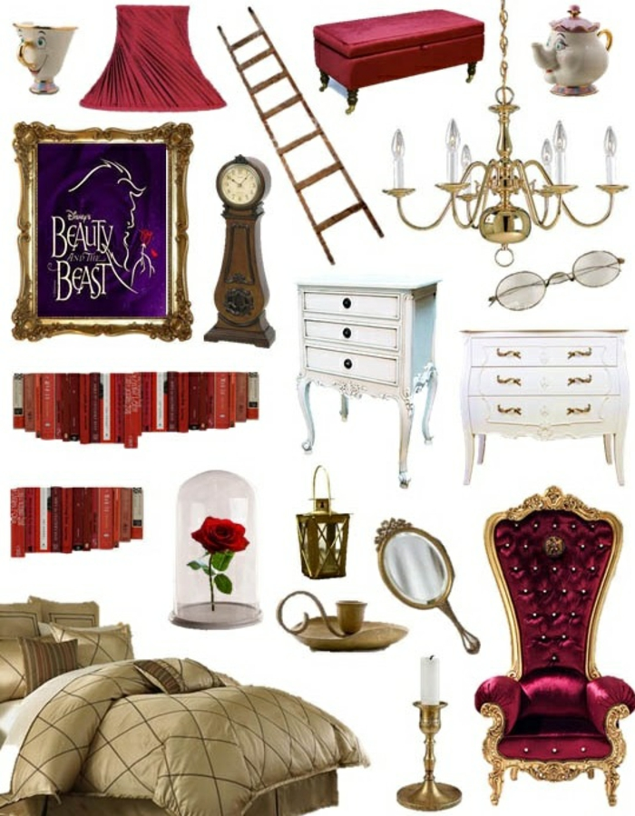 La belle et la b te disney d coration en 80 id es magnifiques for Belle decoration d interieur