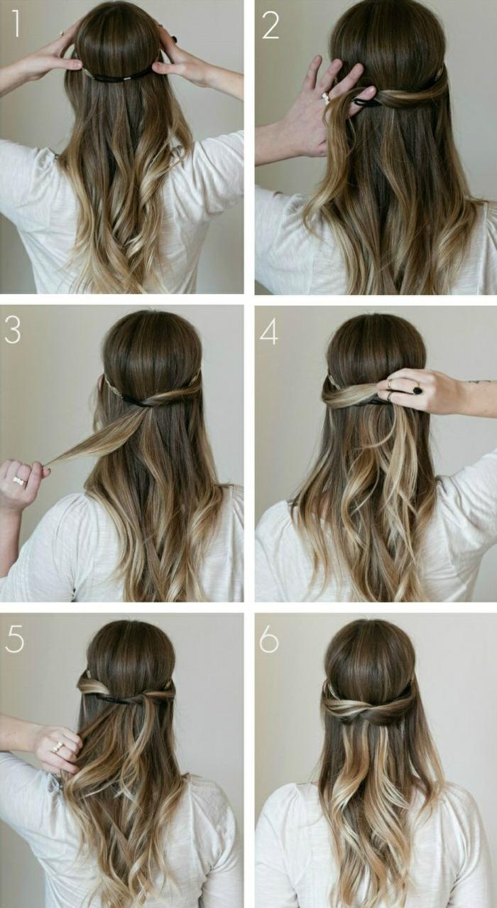 Extraordinaire Comment faire une coiffure facile cheveux mi-longs? - Archzine.fr BS-97