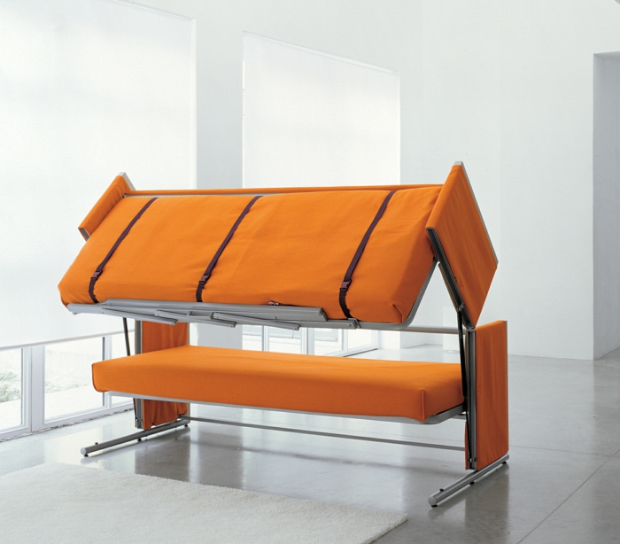 un-joli-canapé-convertible-orange-monsieur-meuble-astuce-rangement-chambre