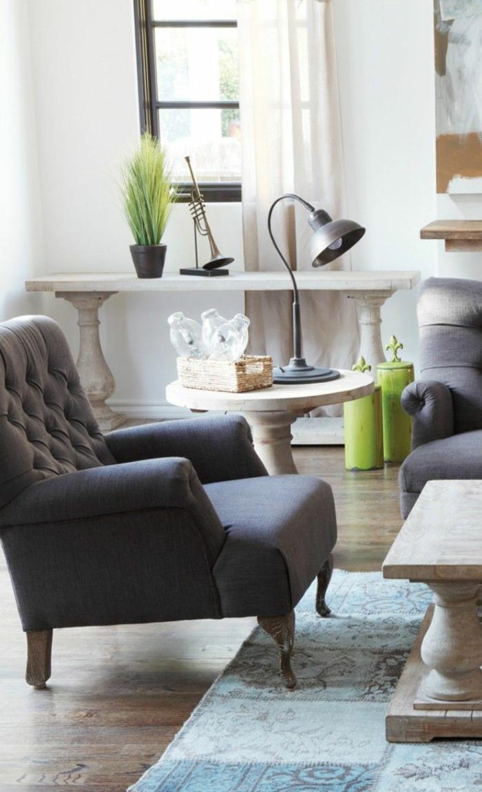 un-joli-fauteuil-relax-ikea-gris-pour-le-salon-d-esprit-loft