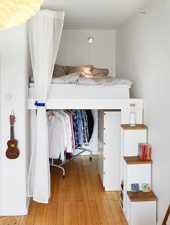 1000 ideas about lit gain de place on pinterest lit rangement rangement c - Gain de place chambre ...