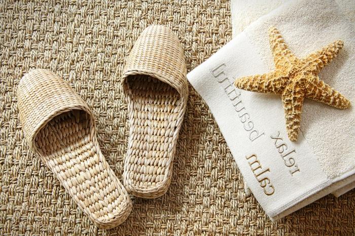 Le tapis jonc de mer pour le salon classique en 60 belles id es - Comment shampouiner un tapis ...