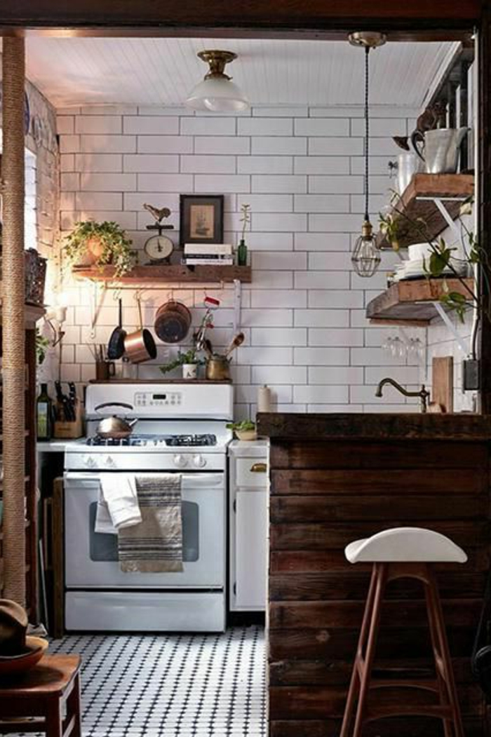 Comment am nager une petite cuisine id es en photos for Dimensions meubles cuisine