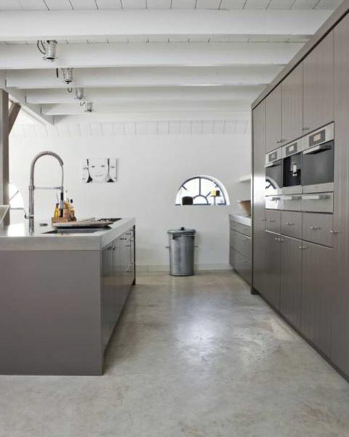 cuisine beton cire gris. Black Bedroom Furniture Sets. Home Design Ideas