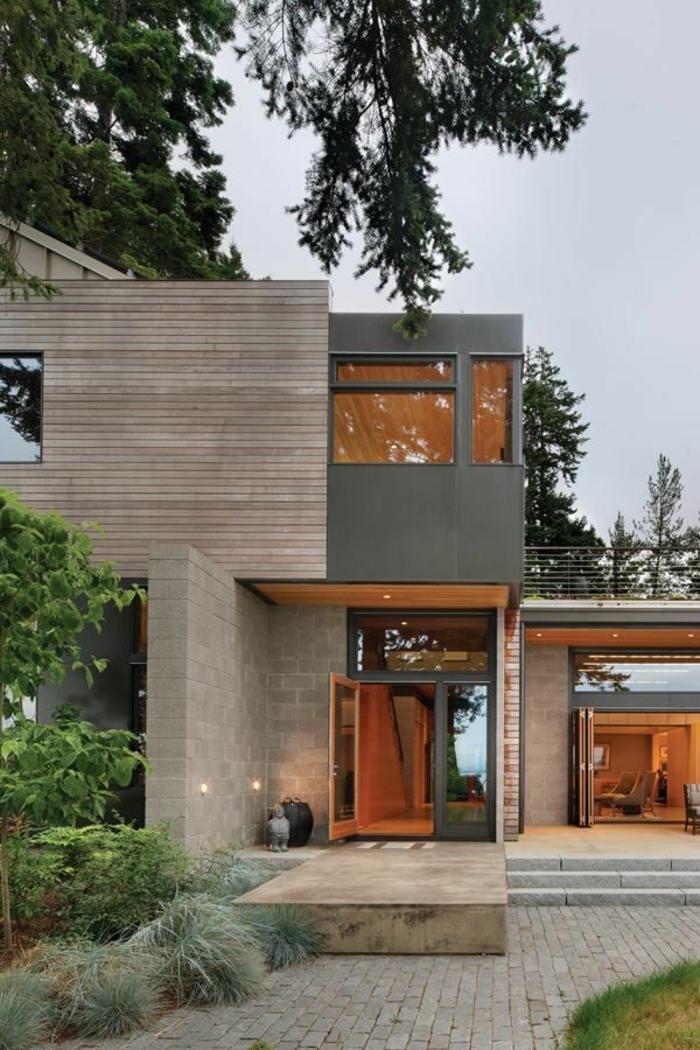 une-jolie-maison-de-style-luxe-et-petit-jardin-d-extérieur-moderne-maison-luxe