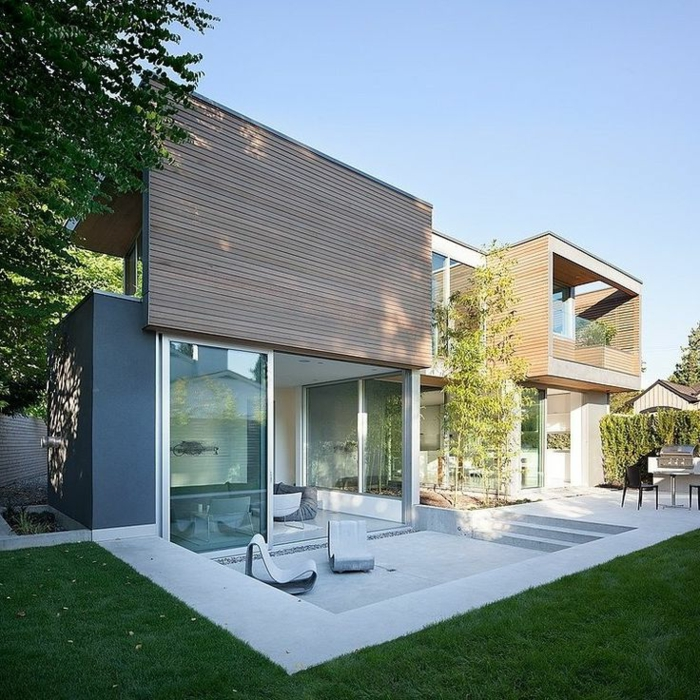 Le minimalisme en architecture contemporaine en 53 photos for Jardin maison contemporaine