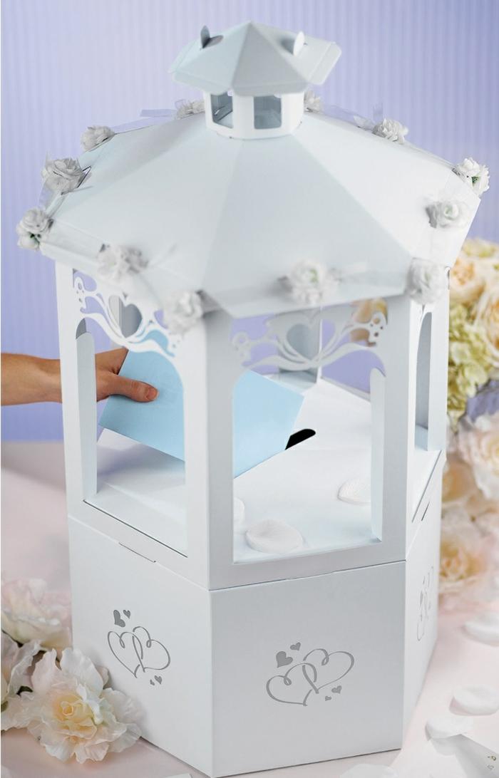 Belle idée décoration de l'urne mariage comme gâteau de mariage