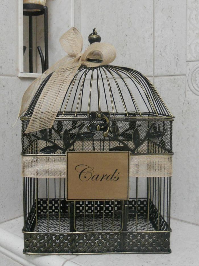 Urne de mariage 40 id es originales - Cage deco pas cher ...