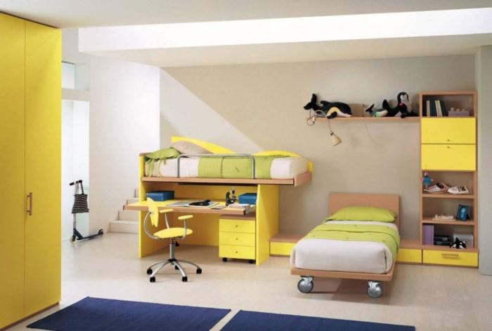 0-1-jolie-chambre-d-enfant-de-couleur-jaune-avec-meubles-jaunes-et-tapis-bleu-foncé