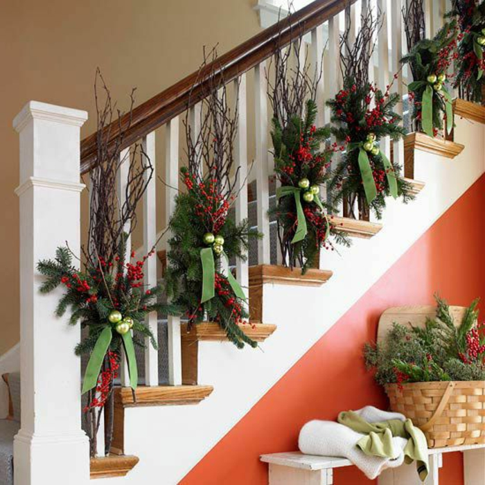 Comment incorporer la branche de sapin dans la d coration for Decoration interieur de noel