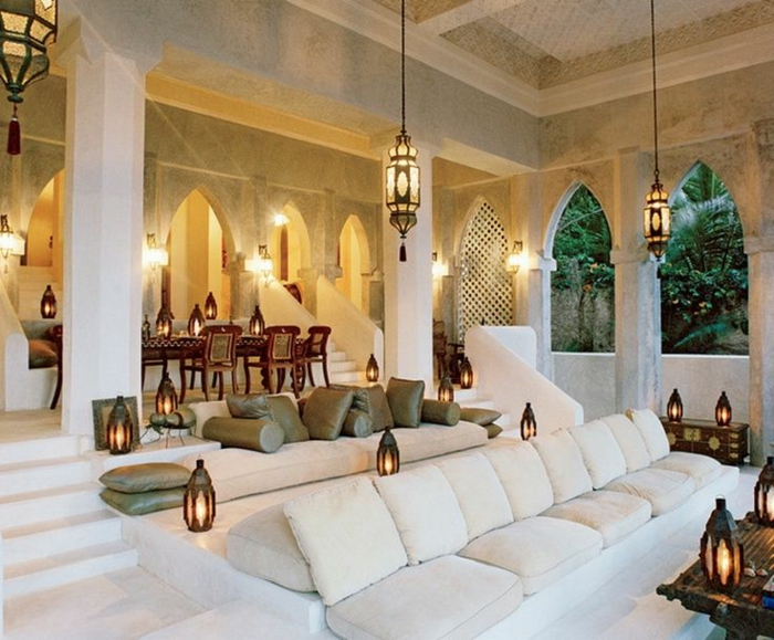 Le salon marocain de mille et une nuits en 50 photos - Style de salon marocain ...