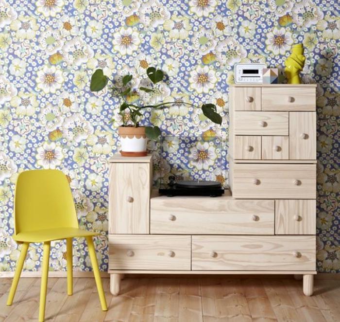 Le papier peint en 52 photos pleines d 39 id es - Idee deco salon papier peint ...