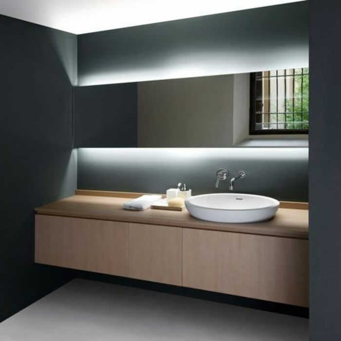 L clairage indirect 52 super id es en photos - Construire meuble salle de bain ...