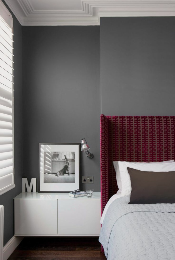La couleur bordeaux un accent dans l int rieur contemporain for Decoration mur interieur chambre