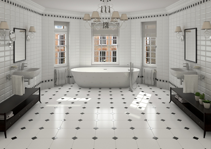 carrelage gris mur revetement sol idee salle de bain. carrelage sol ...