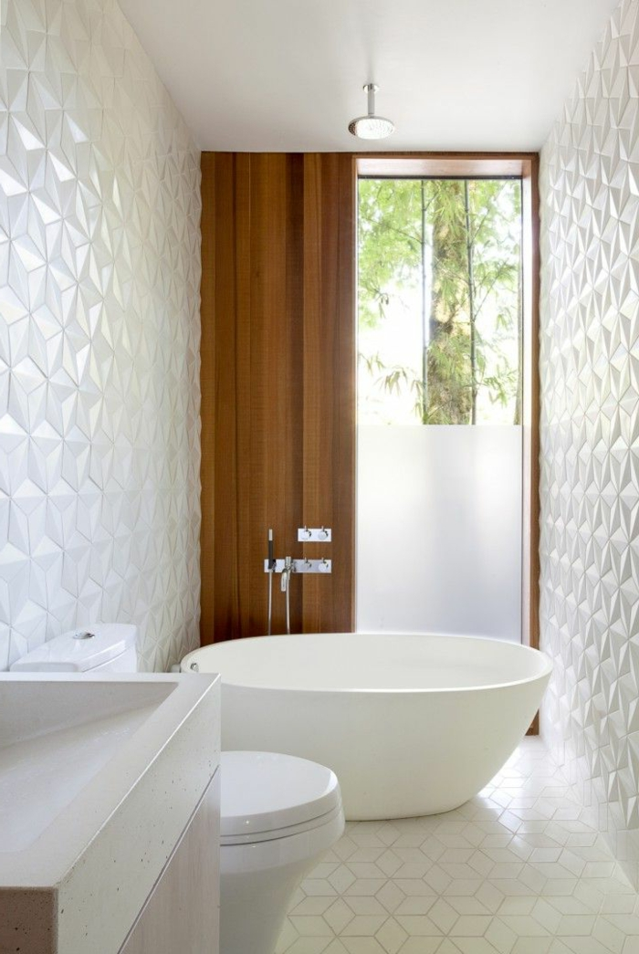 Mosaique hexagonale blanche for Carrelage de salle de bain blanc