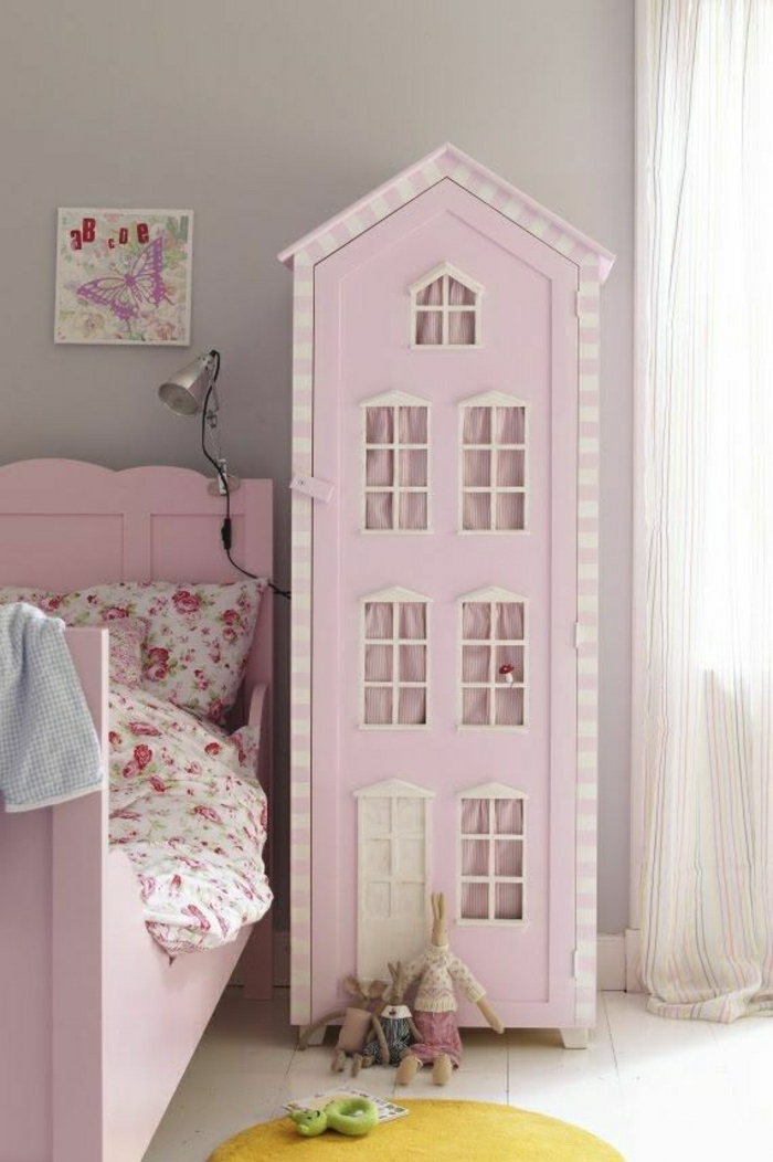 Chambre fille rose conforama for Chambre fille rose
