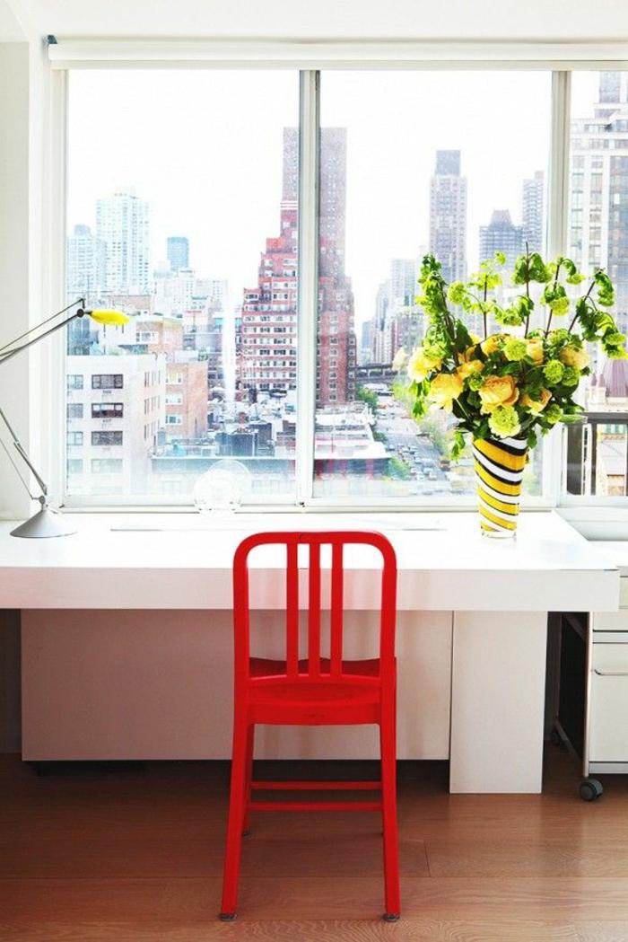 1-couleur-feng-shui-bureau-astuces-feng-shui-pour-le-coin-de-travail-avec-une-chaise-rouge