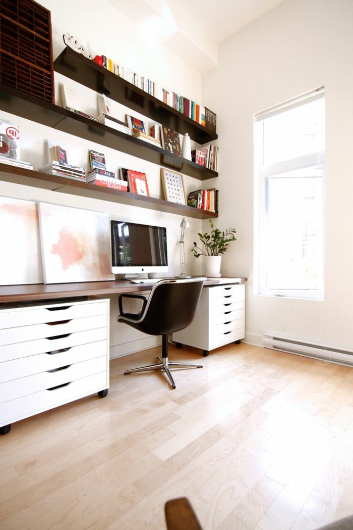1-couleur-feng-shui-bureau-avec-sol-en-parquet-clair-et-meubles-en-bois-comment-decorer-le-bureau