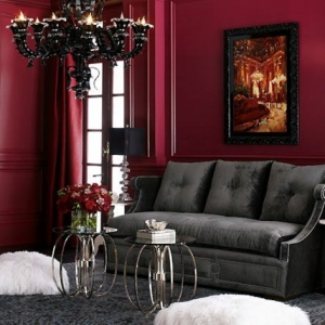 La couleur bordeaux peut être un joli accent dans l'intérieur! 40 super idées en photos!